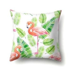 Image 4 - YORIWOO Hawaii Flamingo dekorasyon mutlu doğum günü yastık kılıfı kanepe tropikal minder örtüsü yastık kılıfı Hawaii parti süslemeleri
