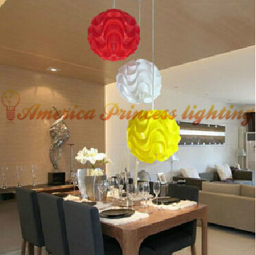 DIY chandelier lamp puzzle IQ Ball chandelier chandelier PP waves, Size 23CM, E27, AC110-240V, free postage.