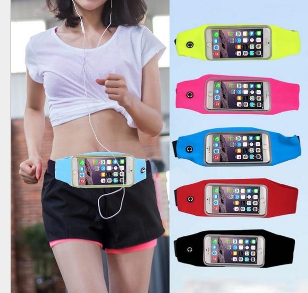 Gym Waist Bag Waterproof Sport Outdoor Fashion Belt Universal Phone Case Pouch For Samsung S6 7 edge S8 Plus J1 3 5 A3 5 2016
