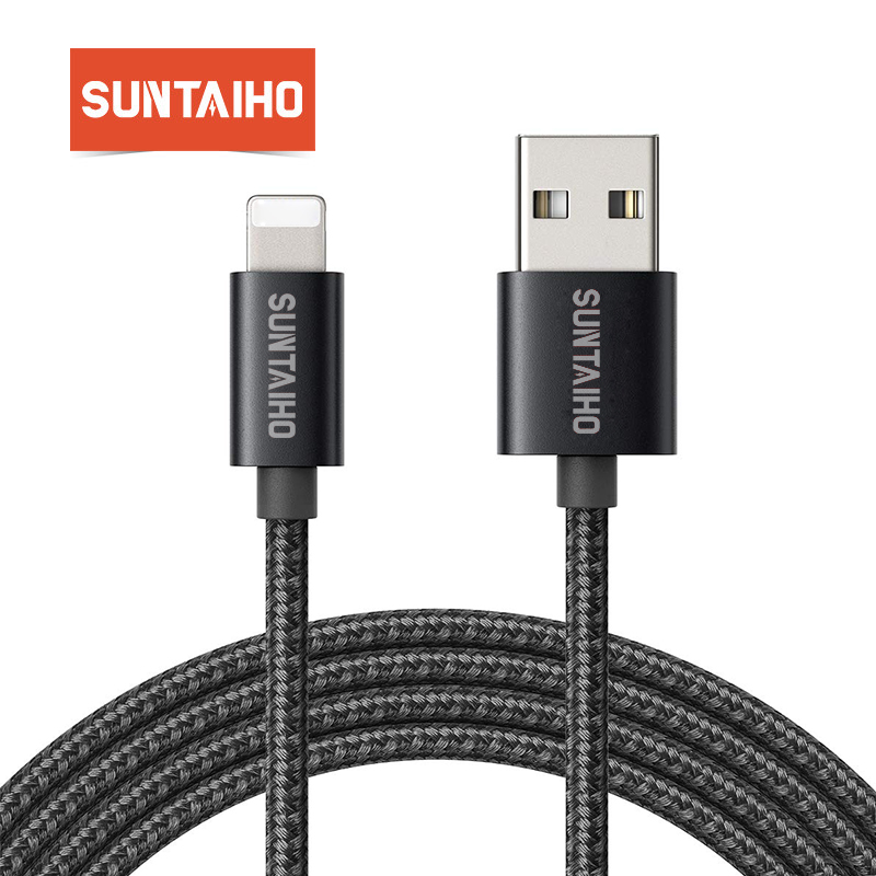 SuntaihoFor Apple iPhone 7 6 Plus 5 5S SE iPad iPod Nylon Braided Cable For Lightning Fast Charging Data Sync USB Charger Cable