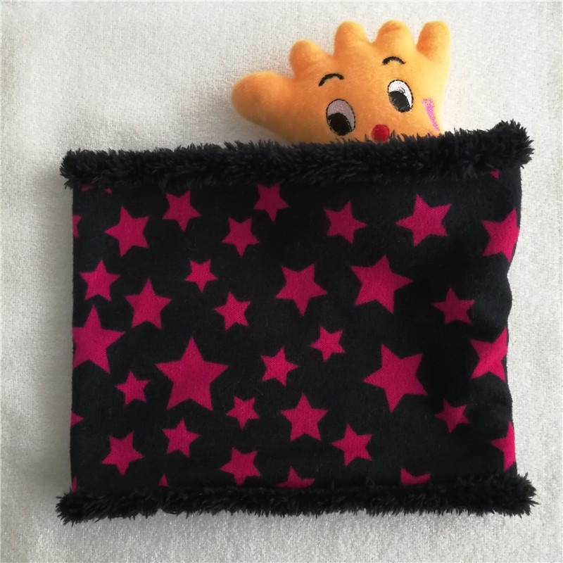 Новинка; зимний шарф с кругами; Детские шарфы; пять звезд; нагрудник для мальчиков и девочек; хлопковый Детский шарф; мягкие теплые шарфы с кольцом