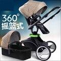 Детская коляска 3 в 1 детская коляска амортизация складной детские коляски пейзаж высокой коляски Высокого Пейзаж высокие стулья