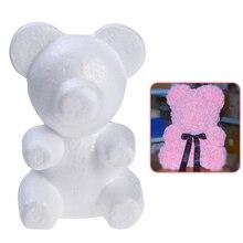Styrofoam Foam Bear Mold Modelling Polystyrene White Craft For Party Wedding Decoration DIY Gift Dropshipping X