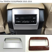 car garnish cover trim rear Air conditioning switch Outlet Vent 1pcs For Toyota FJ150 / Prado 2010 2011 2012 2013 2014 2015 2016