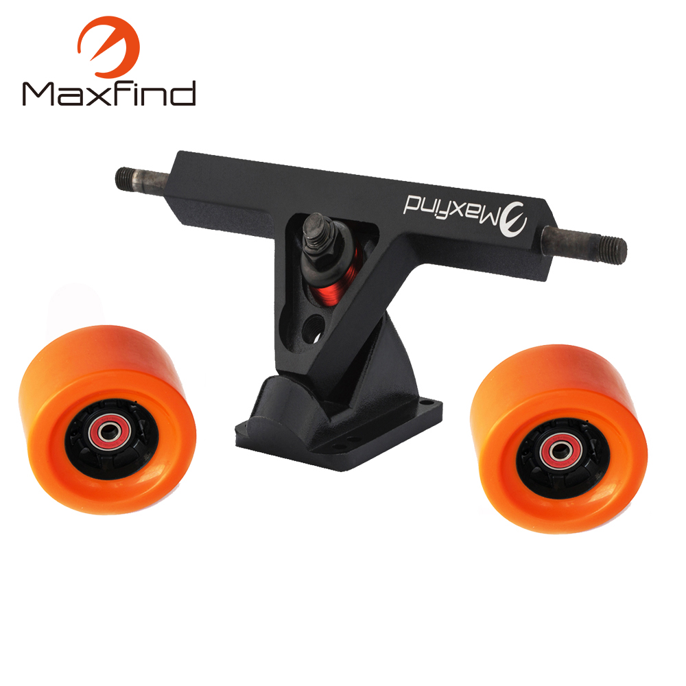 Maxfind Electric Longboard skateboard Conversion Kit Rear Truck With 2 PU Wheels longboard wheels set 70mm 78a colorful pu skateboard wheels transparent with riserpad and bearing bolts screws