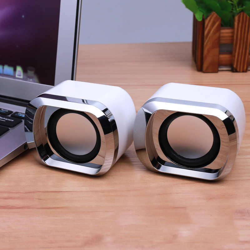 Kabel Dual Stereo Laptop Speaker USB Didukung dengan Bass Lebih Sedikit Distorsi 2019