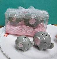 New Baby Shower Favors And Christening Gifts 300pcs 1 50sets LOT Little Peanut Elephant Ceramic Salt