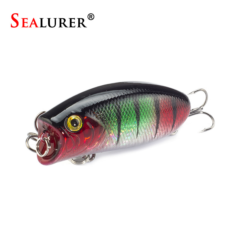 SEALURER 11G/5.5CM Poppers Fishing Lure Topwater Pesca Wobbler Isca Artificial Hard Bait Swimbait Popper lures