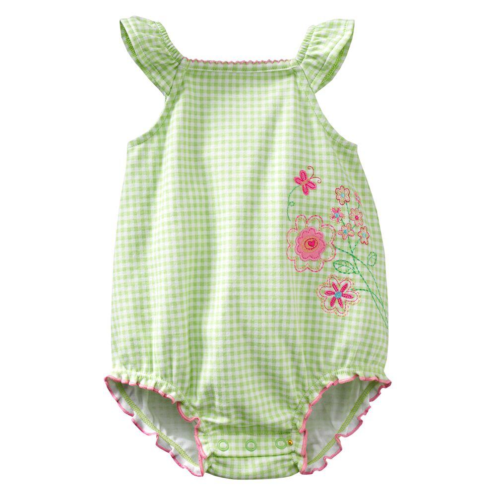 Green Baby Dívky kostýmy batole Jumpsuits pro letní dětské - Oblečení pro miminka