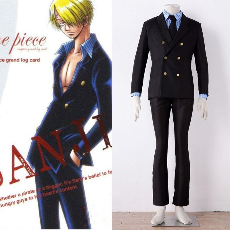Anime One piece Sanji Cosplay Costume Outfit Custom Made ...