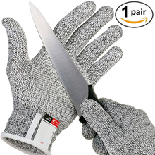 Anti-cut Gloves Safety Cut Proof Stab Resistant Stainless Steel Wire Metal Mesh Kitchen Butcher Cut-Resistant Safety Gloves leshp anti cut gloves safety cut proof stab resistant stainless steel wire metal mesh kitchen butcher cut resistant safety glove