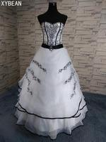 Hot Sale Cheap Price 2017 New Arrival Classical A Line White Black Women S Wedding Dresses
