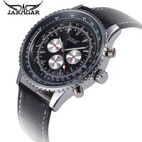 Men Watches 2012 Hot New Mens Face 6 Hand Automatic Luxury Steel Black Skeleton Men S