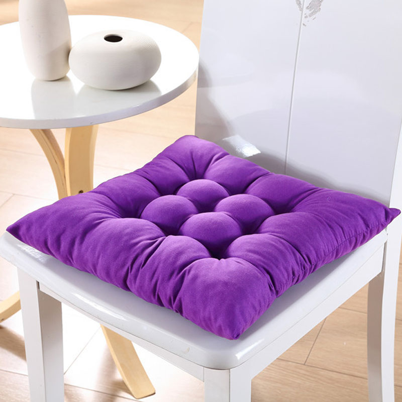 40X40CM Winter Home Office Decor Seat Cushion Solid Color