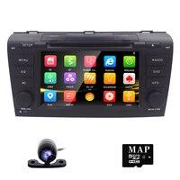 Free Camera 7 Double 2 Din Car Stereo DVD Player Navigation For Mazda 3 Mazda3 2004