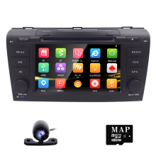 Free Camera 7″ Double 2 Din Car Stereo DVD Player Navigation for Mazda 3 Mazda3 2004-2009 with GPS, Bluetooth, iPod, USB, SD, 3G