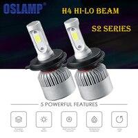 Oslamp S2 Series Led Headlight H4 LED Bridgelux COB Chips Car Headlights Hi Lo Beam Bulbs
