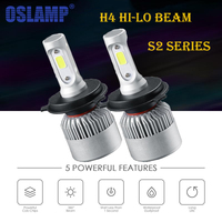 Oslamp S2 Series Led Headlight H4 LED Bridgelux COB Chips Car Headlights Hi Lo Beam Bulbs