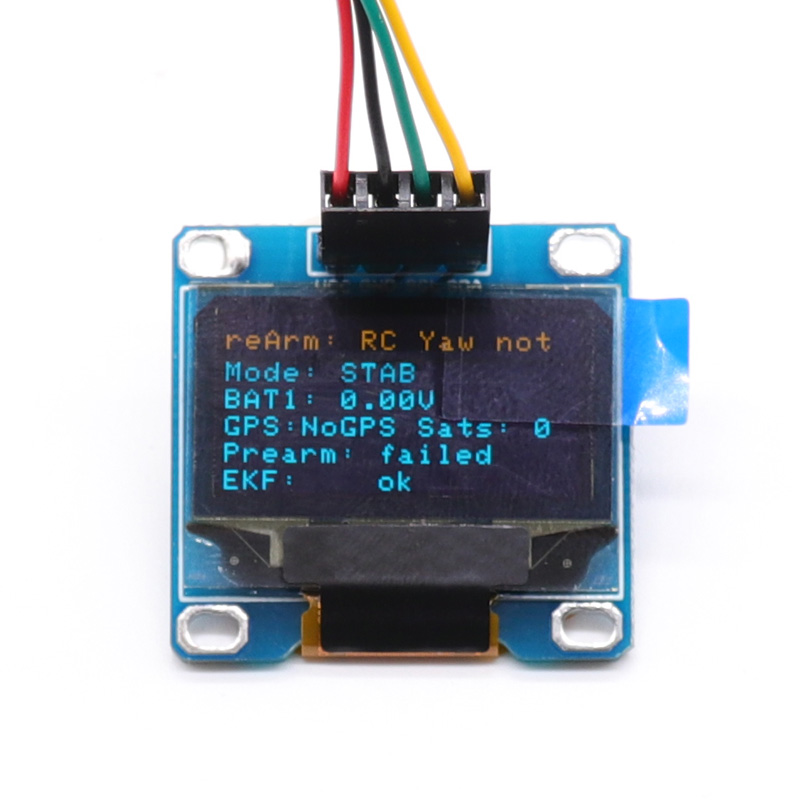 OSD Display OLED para Pixhawk PIX 2.4.8 PX4 exibição de status de vôo Flight Control Flight Conectado À Interface de Pixhawk I2C