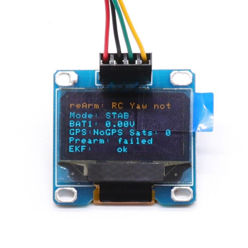 OLED дисплей OSD для Pixhawk 2.4.8 PIX PX4, дисплей управления полетом, состояние полета, подключено к интерфейсу I2C Pixhawk