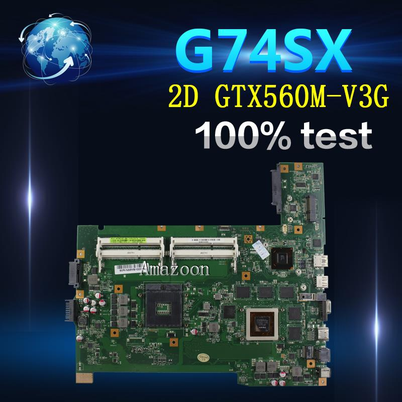 Amazoon  G74SX Laptop motherboard for ASUS G74SX G74S G74 Test original mainboard 2D GTX560M-V3G Video cardAmazoon  G74SX Laptop motherboard for ASUS G74SX G74S G74 Test original mainboard 2D GTX560M-V3G Video card