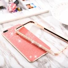 Snake Glitter Rhinestone Frame & Bumper Case for iPhone 7 8 Plus 6 6S Plus XSMAX Clear Metal Diamond Frame Back Cover Phone Case