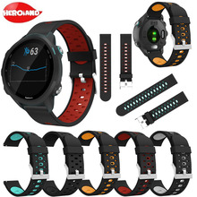 Soft Silicone Replacement Strap for Garmin Forerunner 245/245M/645 Smart Wristband for Garmin vivoactive3 vivomove HR Watch Band new replacement cradle charging desktop dock power charger for garmin forerunner 645 235 230 630 64 vivomove hr s20 smart watch
