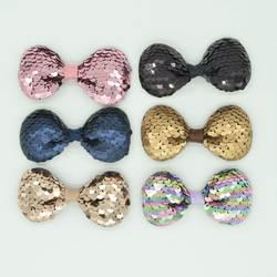Бант для новорожденного головной убор Популярные заколка для детей Многослойные блесток милые новые аксессуары для волос, для маленькой