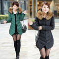 Hooded Fur Collar Winter Coat Big Size 3XL Zipper New Women Down Jacket Lady Long Korean Cotton Jacket