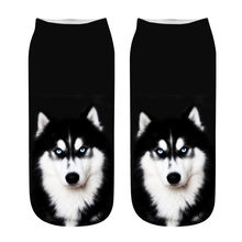 Womail Great gift High quality Popular Funny Unisex Short Socks 3D Dog Printed Anklet Socks Casual Socks dropship #5(China)