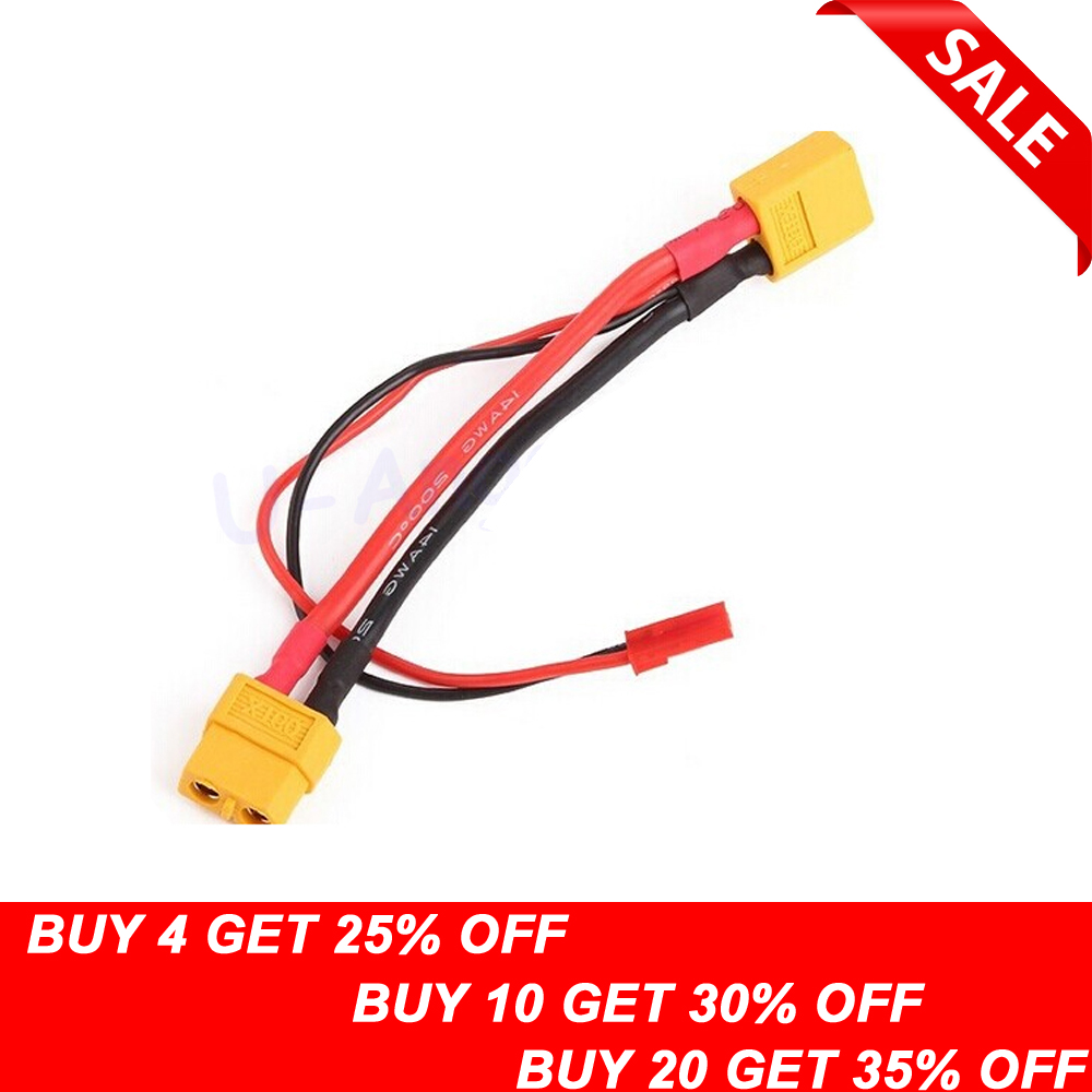 1pcs XT60 Male Convert To XT60 Female & JST Female Conversion Charger Cable Dropship