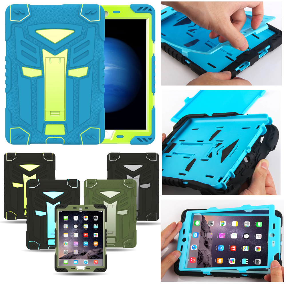 Hybrid Armor Case For iPad Air 1 Kids Safe Shockproof Heavy Duty Silicone Rubber Hard Case Cover For Ipad 5 9.7 inch