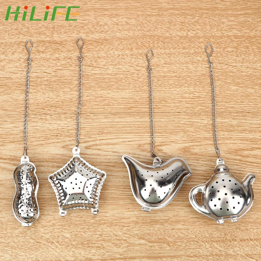 HILIFE Stainless Steel Teapot Peanut / Bird / Teapot / Shell Tea Infuser Filter Metal Tea Bag Reusable Tea Strainer Ball