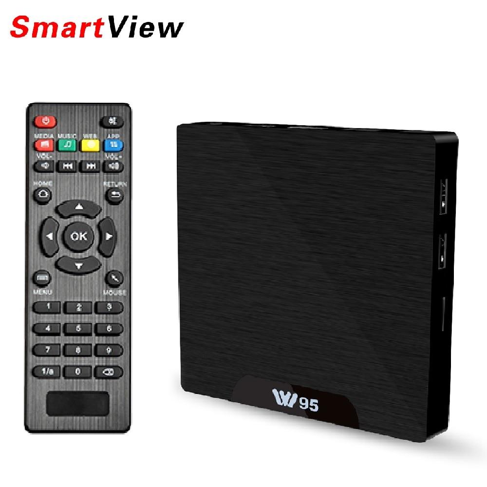 W95 Android 7.1 TV Box 2GB 16GB Amlogic S905W Quad Core 2.4G WiFi H.265 4K 30fps VP9 Media Player 2G/8G...