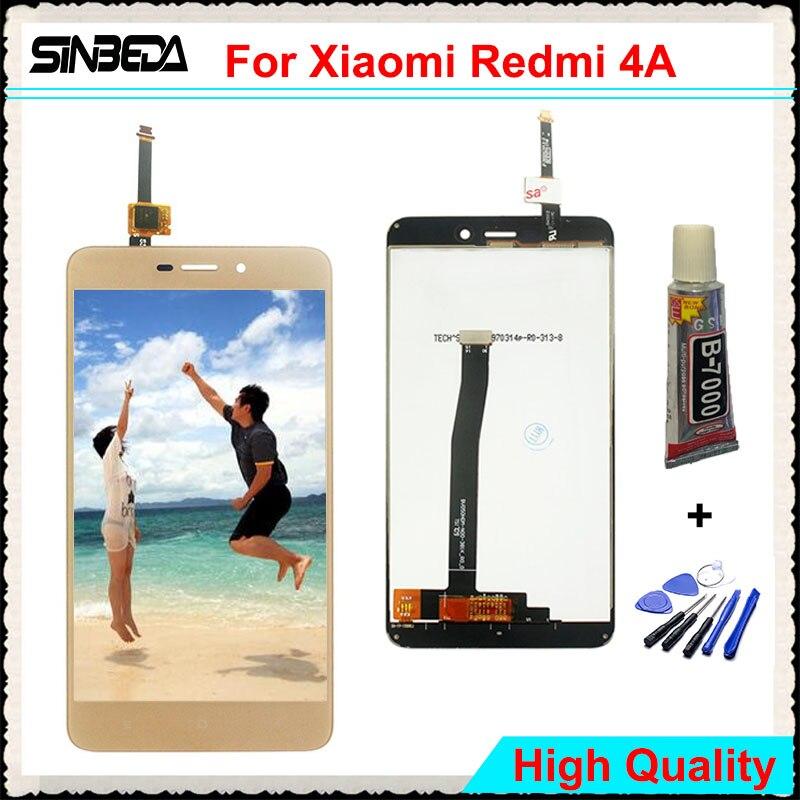 Sinbeda Haute Qualité 5.0 LCD Écran D'affichage Pour Xiaomi Redmi 4A Écran Tactile Digitizer Assemblée Remplacement Pour Redmi Hongmi 4A
