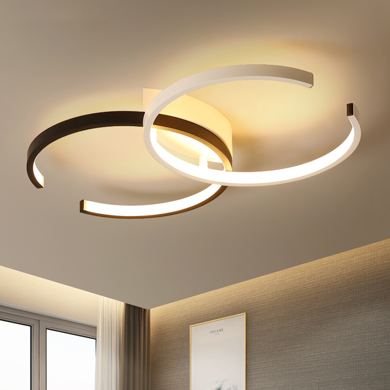 Creative Fashion Ceiling Lamp Led Ceiling Light for foyer Living room Bedroom Kitchen Black and White C Ceiling Lamp 110V 220V led modern ceiling light creative round white living room lamp 110v 220v bedroom lighting stylish apartments ceiling lamps
