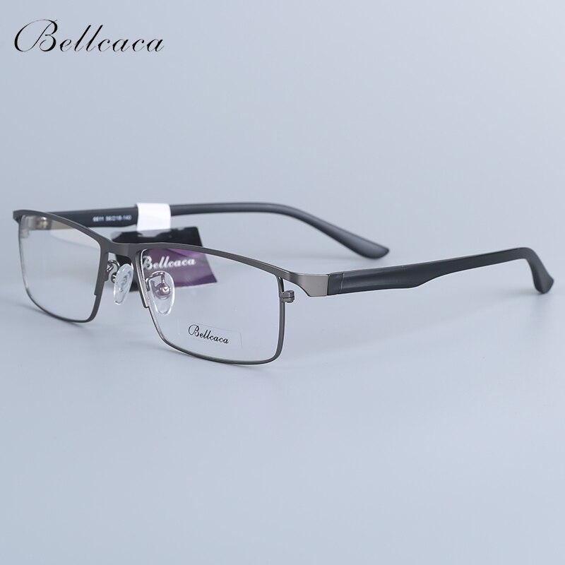 Bellcaca Men Spectacle Frame Eyeglasses Nerd Computer Optical Prescription Eye Clear Lens Glasses For Male Eyewear 6611