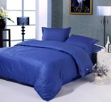 Royal Blue Bedding set 100% Cotton bed sheets quilt duvet cover in a bag sheet bedspread linen King Queen size full 4PCS