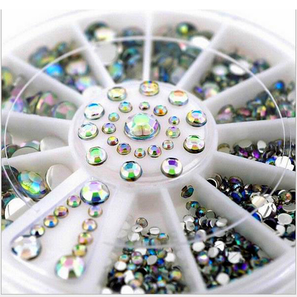 Buy hot sale 5 sizes white multicolor for 3d nail art decoration
