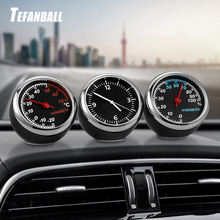 Hot Round Shape Car Automobile Digital Clock Auto Watch/Thermometer/Hygrometer Interior Decoration Ornament Styling