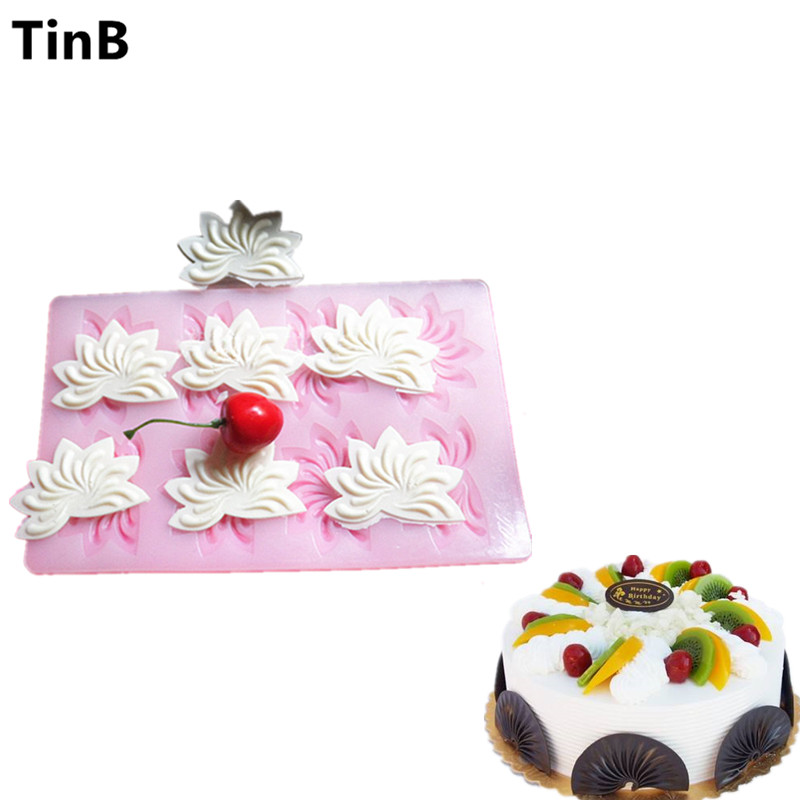 Flower Shaped Silicone Mould Cake Decoration Fondant Cake 3D Mad Grade Chocolate Silicone Mould DIY Bage Cake Tools Stencil