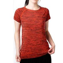 Melange Microfiber Spandex Crew Neck Women's T-Shirt