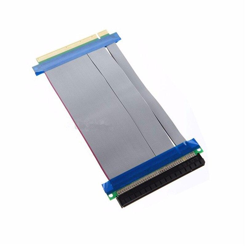 PCI E PCI-E Express 16X to 16X Riser Card Extender Ribbon Converter Extension Cable Adapter 2pcs pci