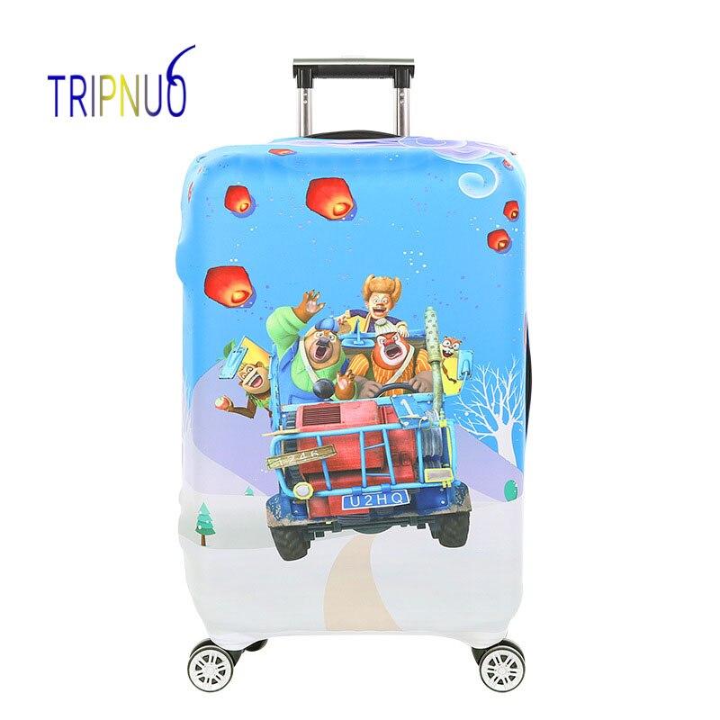 TRIPNUO дорожные аксессуары чемодан защитные чехлы эластичность медведь Чемодан Чехлы для 18-32 дюймов толстый чемодан Крышка