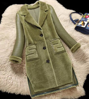 ZiZhen зима натуральный мех ягненка пальто овечья шерсть Двусторонний мех пальто женское пальто 180716 3, kqn21413