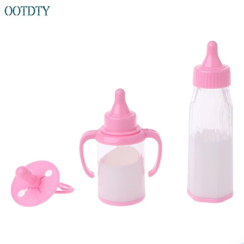 3pcs/set Magic Feeding Bottle For American BJD Dolls Baby Doll Feeder Nipple Toy #330