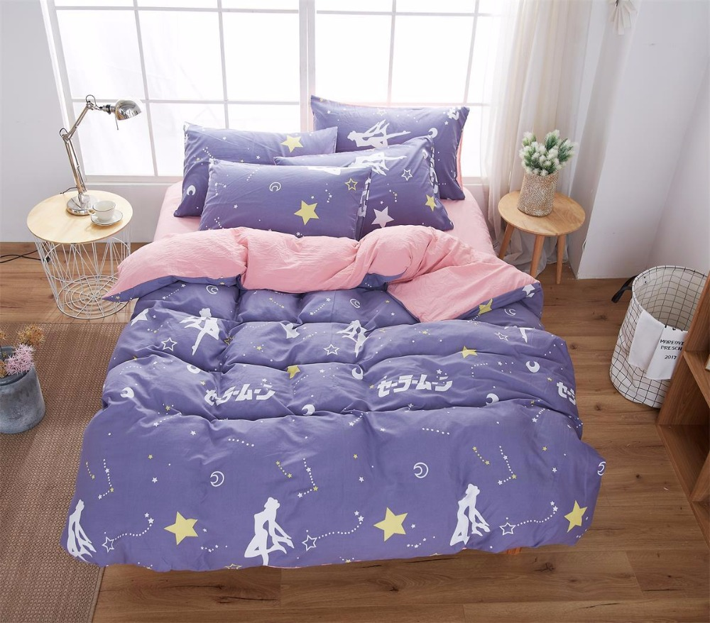 Dot Bedding Set Queen Size Solid color Bed Sheets Soft Cotton Modern style Comfortable Bed Linen Set Small Plaid Bedspread