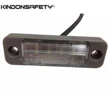 100 шт по FedEx! E-помечено светодиодный фонарь освещения номерного знака свет с 4 шт светодиод SMT, испускает белый свет, DC12V или 24 V