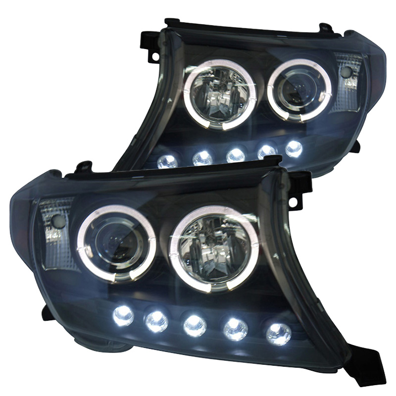 for Toyota Land Cruiser FJ200 Car projector lens Headlight Assembly fit 2008-2012 Angel eye head lamps with led line light