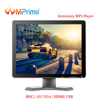 AMPrime 15 IPS LCD HD Monitor Mini TV & Computer Display 1080P Color Screen Camera Video Security CCTV DVD Monitor With Speaker